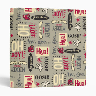 Main Mickey Shorts | Phrase Icon Pattern Binder