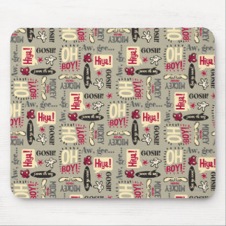 Main Mickey Shorts | Phrase Icon Pattern Mouse Pad