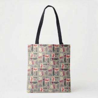 Main Mickey Shorts | Phrase Icon Pattern Tote Bag