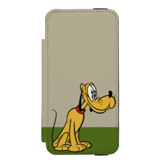 Main Mickey Shorts | Pluto Sitting iPhone SE/5/5s Wallet Case