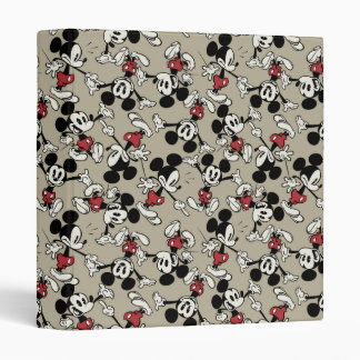 Main Mickey Shorts | Tan Icon Pattern 3 Ring Binder