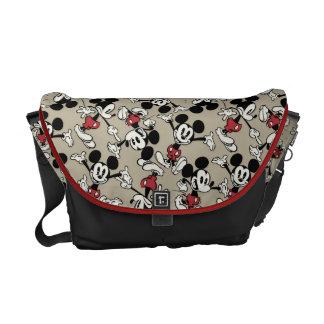 Main Mickey Shorts | Tan Icon Pattern Courier Bag
