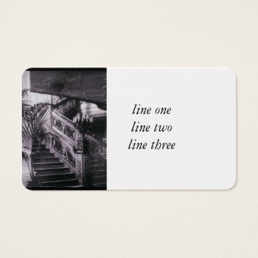 Professional Business Main Ornate Stairwell D Deck Business Card