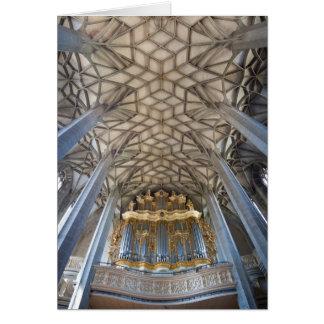 Main pipe organ in Marktkirche, Halle Card