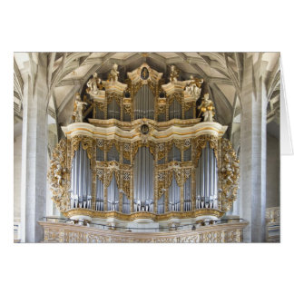 Main pipe organ in Marktkirche, Halle Card