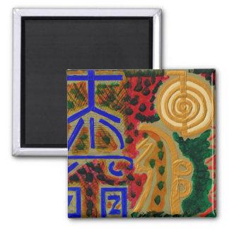 Main Reiki Healing Symbols 2 Inch Square Magnet