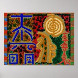 Main Reiki Healing Symbols Poster