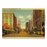 Main St., Akron, Ohio Vintage Greeting Card
