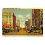 Main St., Akron, Ohio Vintage Postcard
