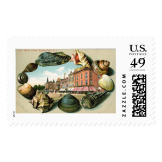 Main St., Asbury Park, New Jersey Vintage Postage