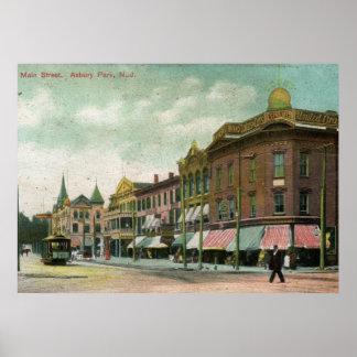 Main St., Asbury Park, NJ 1906 Vintage Poster