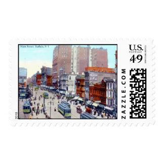 Main St., Buffalo 1913 Vintage Postage