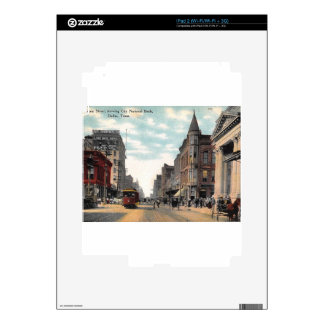 Main St., Dallas, Texas, Vintage Decal For iPad 2