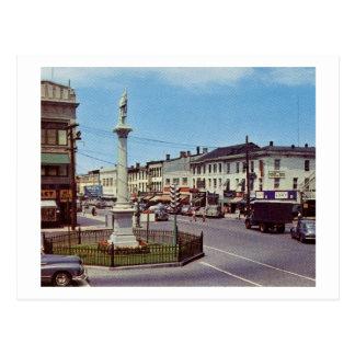 Main St., Danbury, Connecticut Vintage Postcard