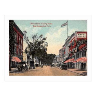 Main St., East Greenwich, Rhode Island Vintage Postcard