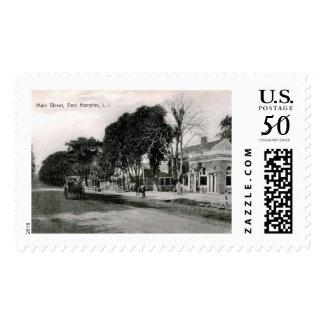Main St., East Hampton, NY Vintage Postage