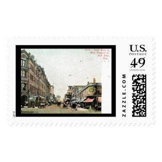 Main St., Fall River, Massachusetts 1908 Vintage Postage