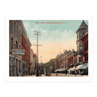 Main St., Johnstown, NY Vintage Postcard