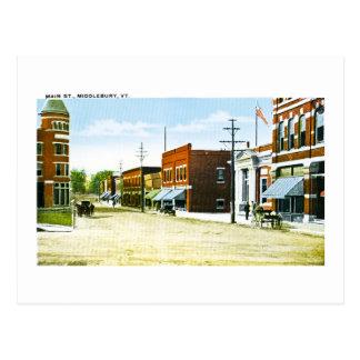 Main St., Middlebury, VT Postcard