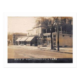 Main St.,  Moorestown, New Jersey 1924 Vintage Postcard