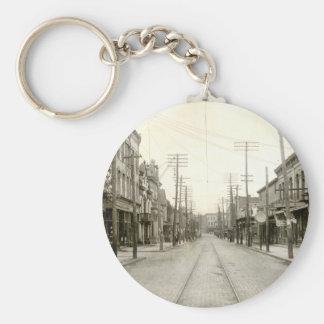 Main St. Nanticoke Pa. 1906 Basic Round Button Keychain