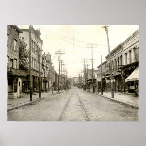 Main St. Nanticoke Pa. 1906 Poster