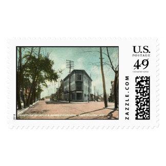 Main St., Phillipsburg, NJ 1908 Vintage Postage Stamp