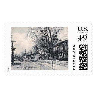 Main St., Pt. Jefferson, New York Vintage Postage