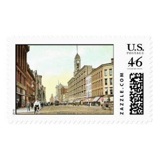 Main St., Rochester, New York Vintage stamp