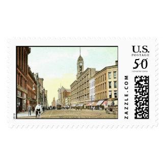 Main St., Rochester, New York Vintage Postage