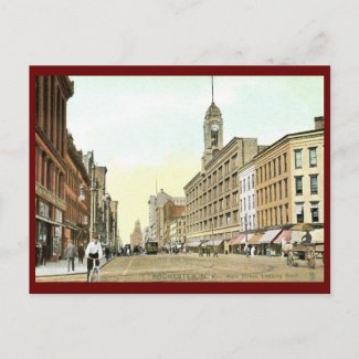 Main St., Rochester, New York Vintage postcard