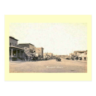 Main St Roundup Montana Vintage Post Card
