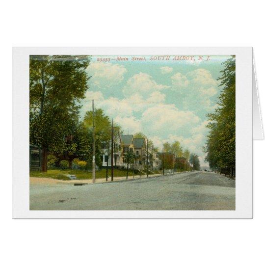 Main St. S. Amboy, NJ 1909 Vintage Card
