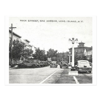Main St., Sag Harbor, Long Island, NY Vintage Postcard