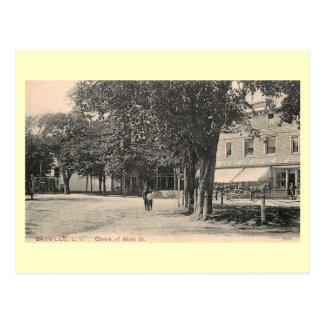 Main St., Sayville, Long Island NY Vintage Post Cards