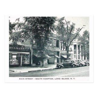 Main St., Southampton, Long Island NY Vintage Postcard