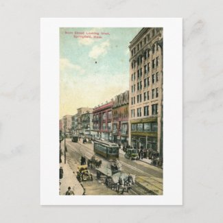 Main St, Springfield, Mass. 1910 Vintage Postcards