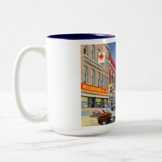 Main St., Waterville, Maine Vintage Mug