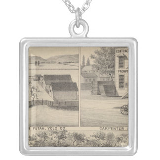 Main St Woodland Silver Plated Necklace