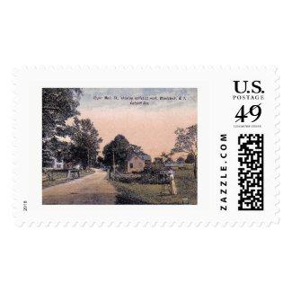 Main St., Woodstock, New York Vintage Postage