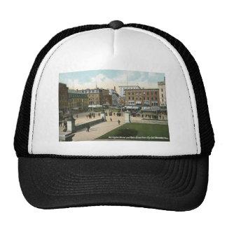 Main St., Worcester, MA 1910 Vintage Trucker Hat