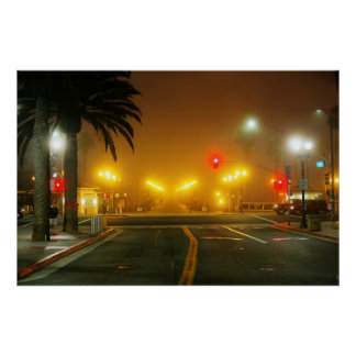 """Main Street and Pacific Coast Highway """" Poster"""
