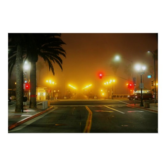 "Main Street and Pacific Coast Highway "" Poster"