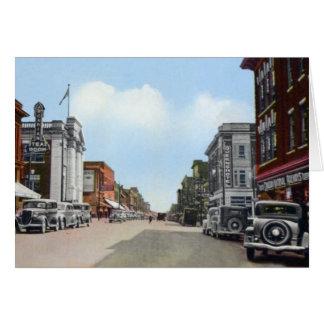 Main Street at North Bay, Ontario Canada Card