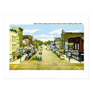 Main Street, Bowling Green Ohio Postcard