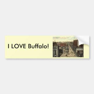 Main Street, Buffalo NY 1912 Vintage Bumper Sticker