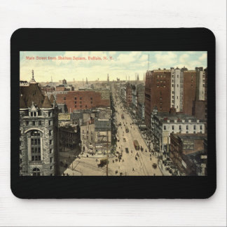 Main Street, Buffalo NY 1912 Vintage Mousepads