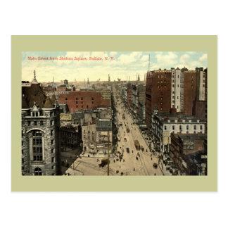 Main Street, Buffalo NY 1912 Vintage Postcard