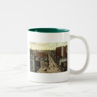 Main Street, Buffalo NY 1912 Vintage Two-Tone Coffee Mug
