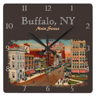 Vintage new york wall clocks zazzle for Custom t shirts buffalo ny